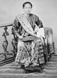 Porträtfotografie einer Njai aus Indonesien, 19. Jahrhundert.