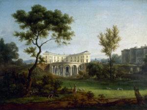 Le palais de Pierre-Augustin Caron de Beaumarchais et de son épouse près de la Bastille, vers 1788.