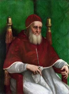 Le pape Jules II, par Raphaël, 1511.