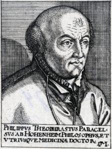 Porträt von Theophrastus Paracelsus, um 1620.
