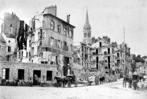 Paris after the German bombardment.
