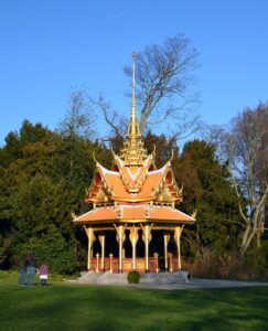 The pavilion of the King of Thailand in Denantou Park in Lausanne.