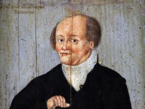 Portrait von Paracelsus von Augustin Hirschvogel, 1540.