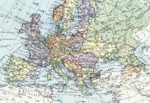 Politische Karte von Europa, 1919.