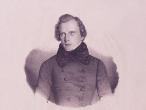 Porträt von Carl Ludwig von Haller, um 1840.