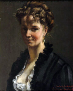 Portrait d'Adèle d'Affry, peint par Gustave Courbet, 1870.