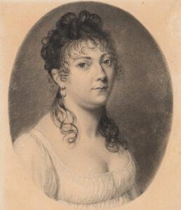 Portrait of Germaine de Staël, around 1802.