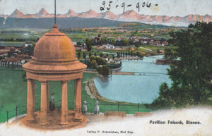 Carte postale avec le pavillon Felseck, 1906.