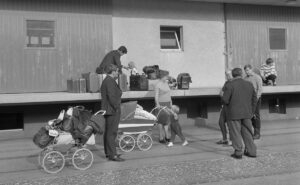 Arrival of Czech refugees in Buchs, 1968.