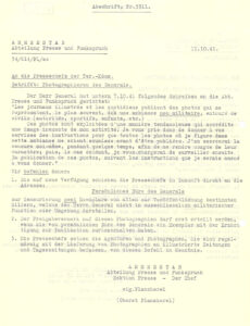 À la demande d'Henri Guisan, la censure des images fut durcie en octobre 1941.