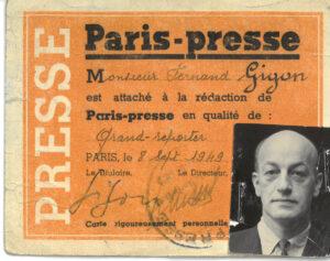 Presseausweis, 1949.