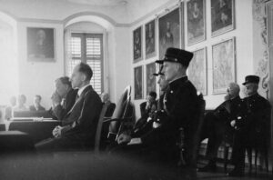 Photograph from the trial of Hans Vollenweider.