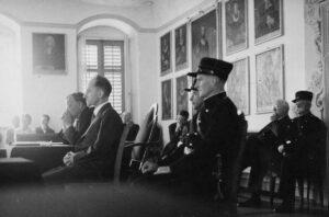 Photographie du procès de Hans Vollenweider.