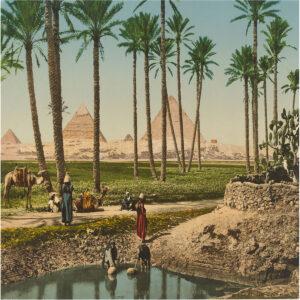 Die ägyptischen Pyramiden.