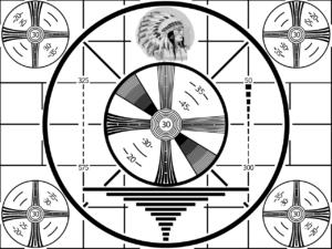 Modèle américain pour de nombreuses mires – le «test de la tête d'indien» de la RCA, à partir de 1939.