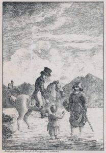 Während ihrer Flucht nach Chur trifft Regula auf einen Kapuziner und einen Reiter.