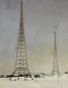 Retuschierte Aufnahme des Landessender Sottens aus dem Jahr 1931.