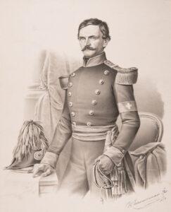 Rudolf Benz auf einer Druckgrafik von 1858.