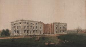 Ruine des US-Kapitols nach dem Versuch der Briten, das Gebäude im Krieg von 1812 zu verbrennen.