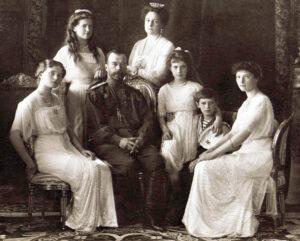 Die Russische Zarenfamilie, um 1913.