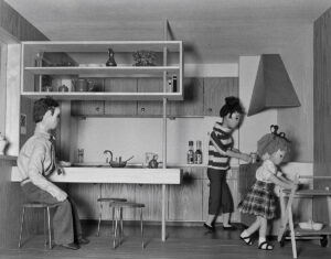 Model of a kitchen at the Swiss Exhibition for Women's Work, 1958.