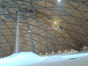 Der «Saldome 2», die 2012 fertiggestellte kuppelförmige Salzlagerhalle in Rheinfelden.