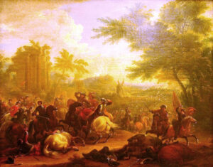 Painting of the Battle of Cassano by Jean Baptiste Martin.