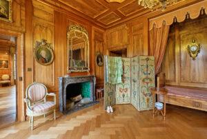 Une chambre à coucher de l'étage principal du château de Jegenstorf.