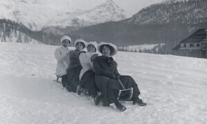 Even before the invention of the bobsleigh, sleighing was a leisure activity engaged in by all social classes.