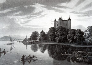 Schloss Grandson am Neuenburgersee.