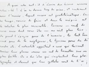Brief von Charles-Albert Cingria.
