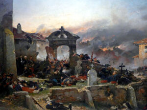 The Franco-Prussian war of 1870-1871 was brutal. Depicted here in a painting by Alphonse de Neuville.