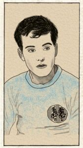 Illustration d'un joueur de foot.