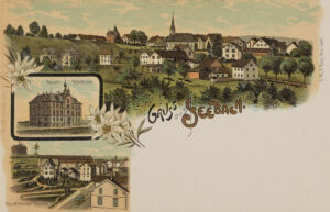 Carte postale de Seebach de 1900. Le village est intégré à la commune de Zurich en 1934.