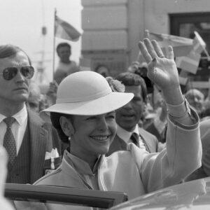 Sweden's Queen Silvia in Ticino in 1985.