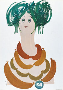 Lora Lamm, Bell, Plakat, 1963.