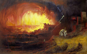 The Destruction of Sodom and Gomorrah, painted by John Martin, 1852.