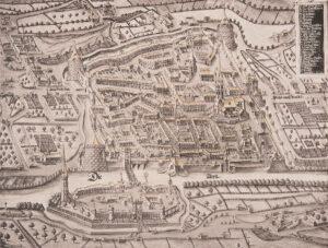 Vue de la ville de Soleure datant de 1659, année à laquelle le duel eut lieu.