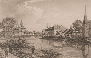 Soleure abrita l'ambassade de France en Suisse pendant plus de deux siècles. Vue de la ville à la fin du XVIIIe siècle.