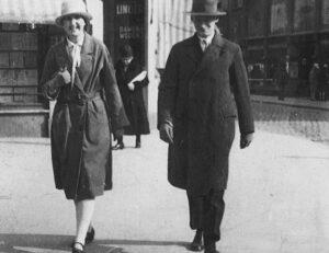 Hilde, étudiante, avec son futur mari Andreas, à Bonn en 1927.