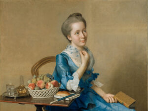 Suzanne Curchod, gemalt von Jean-Etienne Liotard (1702-1789), 1761.