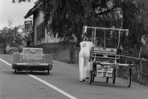 Teilnehmer der Tour de Sol am 27. Juni 1985.