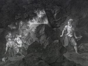 La mort de Gessler. Gravure sur cuivre de Romain Girard, 1797.
