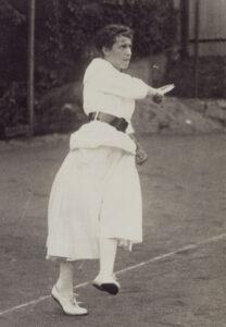Zurich tennis player from 1917.