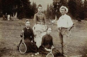Tennis in the mountains. Arosa, around 1890.