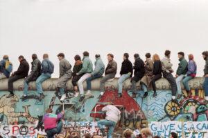 Fall of the Wall in Berlin, 12 November 1989.