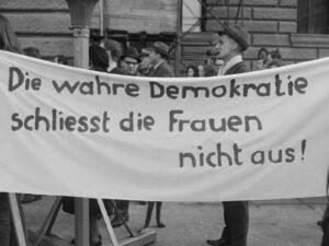 Beim Marsch auf Bern 1969 forderten die Frauen mit Nachdruck das Stimmrecht.