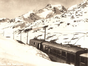 The Bernina railway has provided a year-round connection between St Moritz and Tirano in Valtellina, Italy, since 1910.