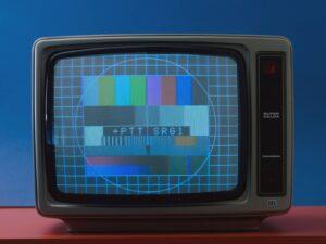Vestige du passé: la mire de SF, introduite dès 1972, était créée par un générateur. Photo de 1978.