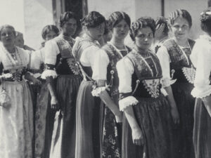 Appenzell women at a festival of traditional costumes in 1924.